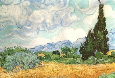 Vincent Van Gogh (Wheatfield with Cypresses) Art Poster Print
