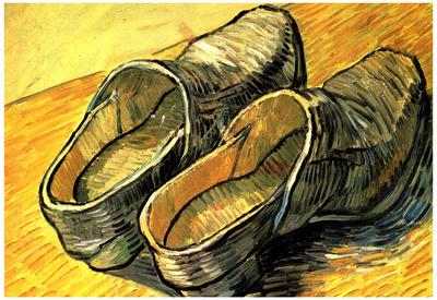 Vincent Van Gogh A Pair of Leather Clogs Art Print Poster