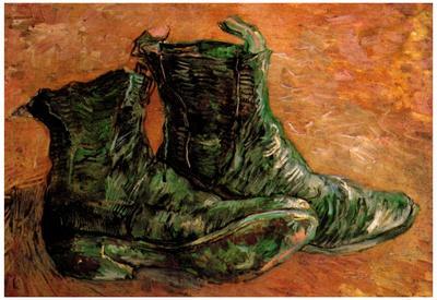 Vincent Van Gogh A Pair of Shoes Art Print Poster