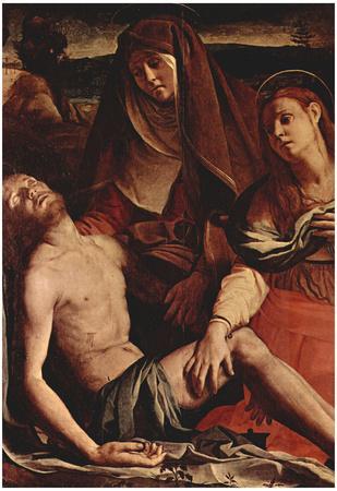Agnolo Bronzino Christ and Maria Magdalena Art Print Poster