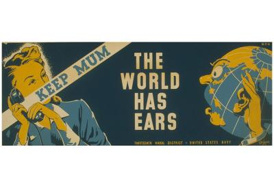 US Navy (Keep Mum, The World Has Ears) Art Poster Print