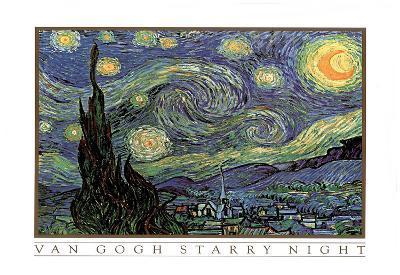 Vincent Van Gogh Starry Night Art Print POSTER quality