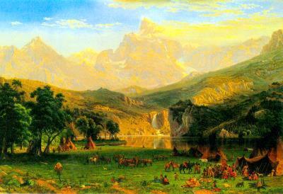 Albert Bierstadt Rocky Montains at Lander's Peak Poster
