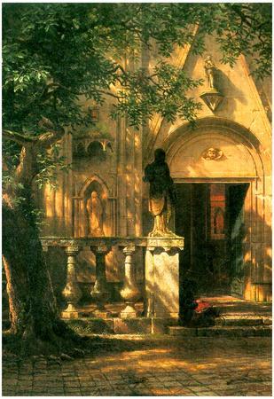 Albert Bierstadt Sunlight and Shadow 2 Art Print Poster