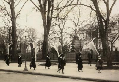 1917 Suffragettes Womens Rights Protestor Photo Poster