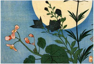 Utagawa Hiroshige Autumn Flowers Full Moon