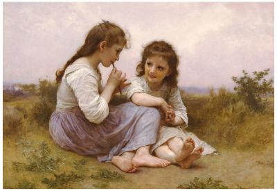 William-Adolphe Bouguereau A Childhood Idyll 1900 Art Print Poster