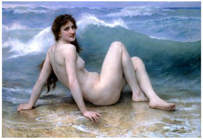 William-Adolphe Bouguereau The Wave Art Print Poster