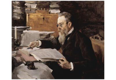 Valentin Alexandrovich Serov (Portrait of the composer Nikolai Andreyevich Rimsky-Korsakov) Art Pos
