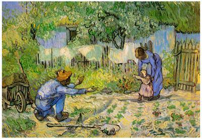 Vincent Van Gogh First Steps Art Print Poster