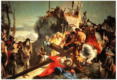 Tiepolo Jesus Carriying the Cross Art Print Poster