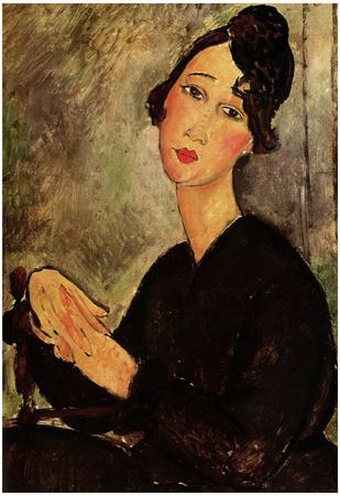 Amadeo Modigliani Portrait of Dedie Art Print Poster