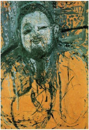 Amadeo Modigliani Portrait of Diego Rivera Art Print Poster