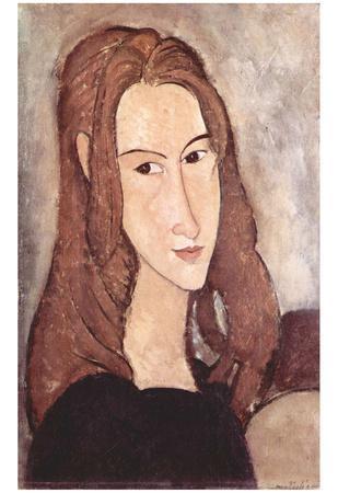 Amadeo Modigliani (Portrait of Jeanne Hébuterne, head in profile) Art Poster Print