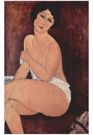 Amadeo Modigliani (Seated Nude on a Sofa) Art Poster Print