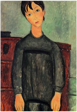Amadeo Modigliani Girl with a Black Robe Art Print Poster