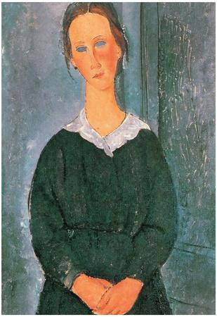Amadeo Modigliani Young Housemaid Art Print Poster
