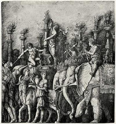 Andrea (School) Mantegna (The triumph of Julius Caesar, The Elephant) Art Poster Print