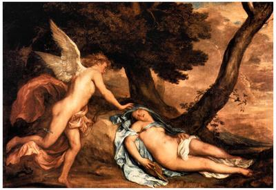 Anthony Van Dyck Amour and Psyche Art Print Poster