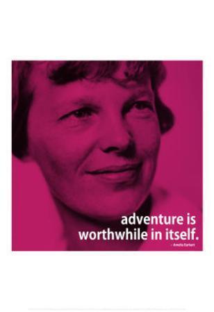 Amelia Earhart Adventure iNspire 2 Quote Poster
