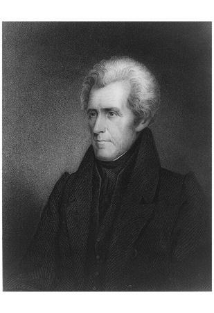 Andrew Jackson (Portrait) Art Poster Print