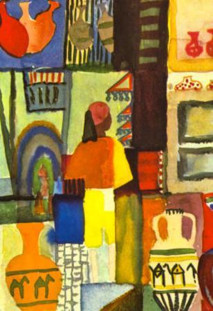 August Macke Traders with Jugs Art Print Poster