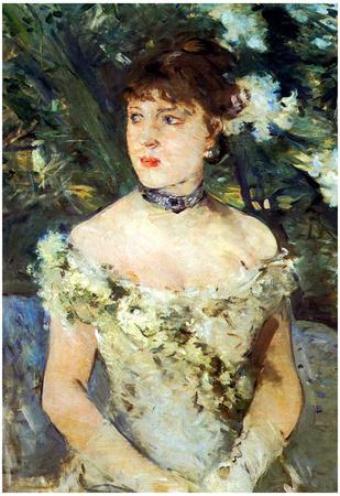 Berthe Morisot Young Woman in a Costume Ball Art Print Poster