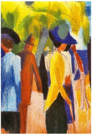 August Macke Walking Under Trees [2] Art Print Poster