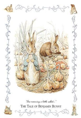 Beatrix Potter (The Tale Of Benjamin Bunny) Art Poster Print