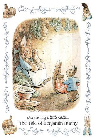 Beatrix Potter Benjamin Bunny Art Print Poster