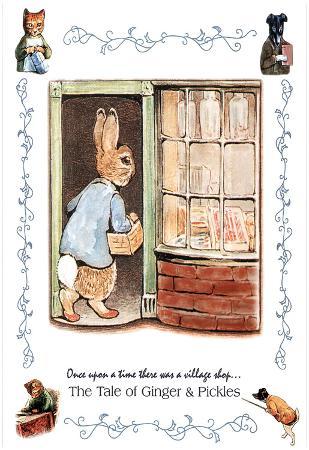 Beatrix Potter Ginger and Pickle Art Print Peter Rabbit Poster