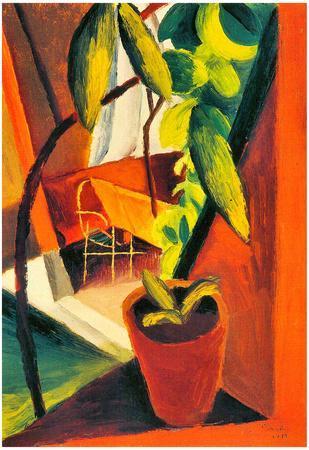 August Macke A Look Into Summer-House Art Print Poster