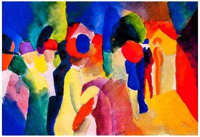 August Macke With Yellow Jacket Art Print Poster