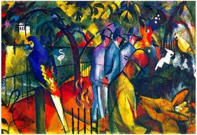 August Macke Zoological Gardens Art Print Poster