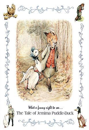 Beatrix Potter Jemima Puddle-Duck Art Print POSTER Fox