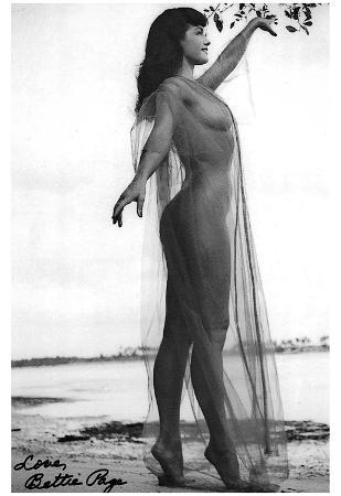 Bettie Page Sheer Archival Photo Poster Print
