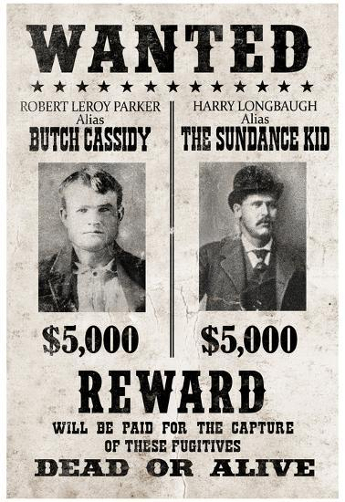 butch cassidy and the sundance kid wanted poster posters at
