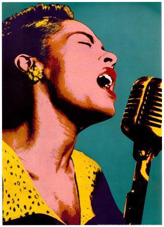 Billie Holiday Blue Pop Art Music Poster