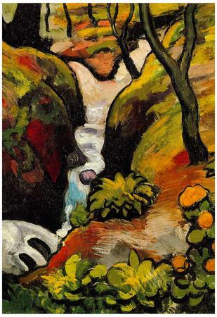 August Macke Forest Brook Art Print Poster