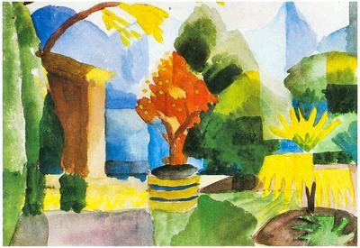 August Macke Garden in Hilterfingen Art Print Poster