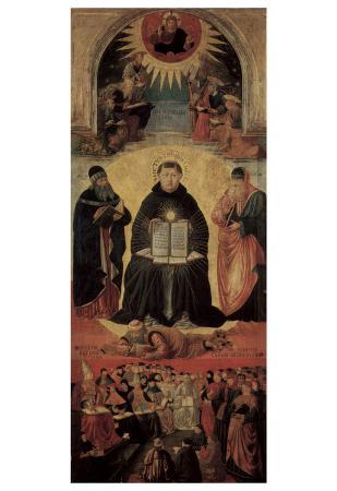 Benozzo Gozzoli (Triumph of St. Thomas Aquinas on Averroes) Art Poster Print