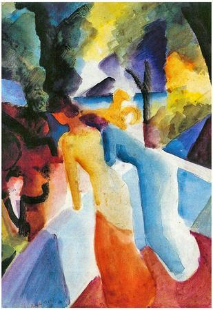 August Macke Greetings From the Balcony Art Print Poster