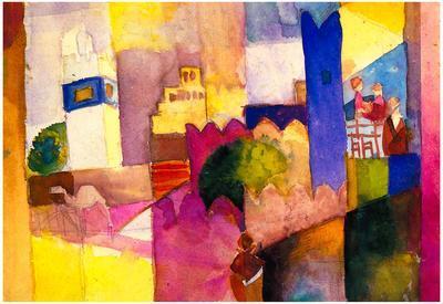 August Macke Kairouan Art Print Poster