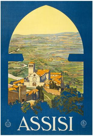 Assisi Vintage Ad Poster Print