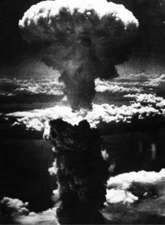 Atomic Bomb (Bombing of Nagasaki) Art Poster Print