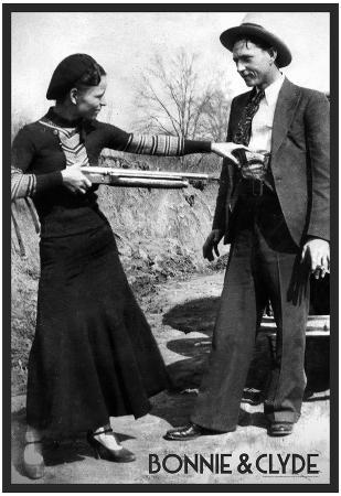 Bonnie and Clyde Archival Photo Poster