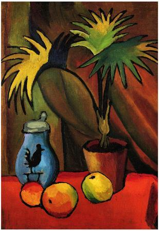 August Macke Still Life with Palms Art Print Poster