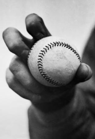 Baseball Knuckleball Grip Archival Photo Sports Poster Print