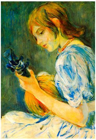 Berthe Morisot The Mandolin Art Print Poster