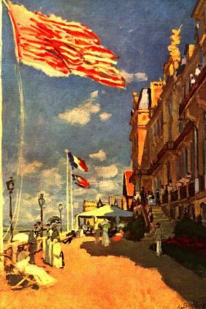 Claude Monet The Hotel of the Roches Noires Art Print Poster